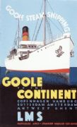 Vintage shipping poster - Goole to the continent